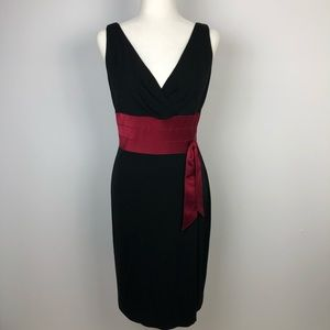 Kay Unger Cocktail Black Dress Sleeveless Size 8